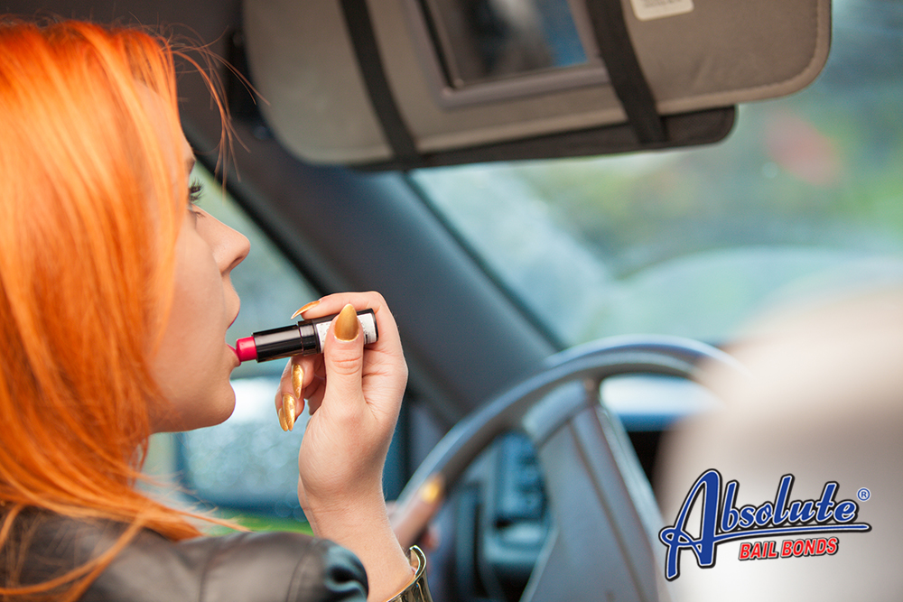 Putting Makeup While Driving is Against the Law