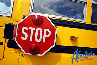 Dropping Kids Off At School   School Bus Warning Signs