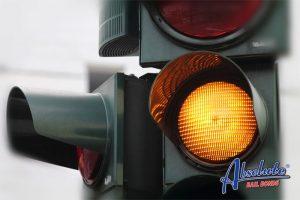 Yellow traffic lights in california