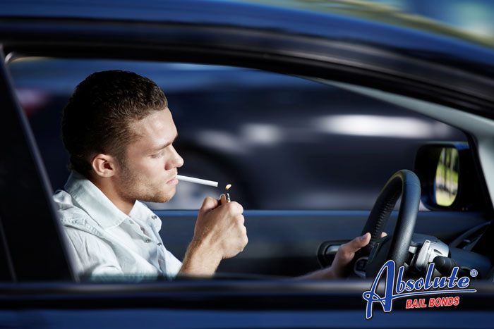 Smoking in a vehicle